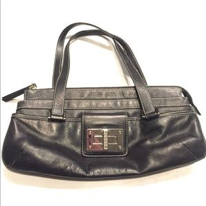 Black Lauren Ralph Lauren Leather Handbag